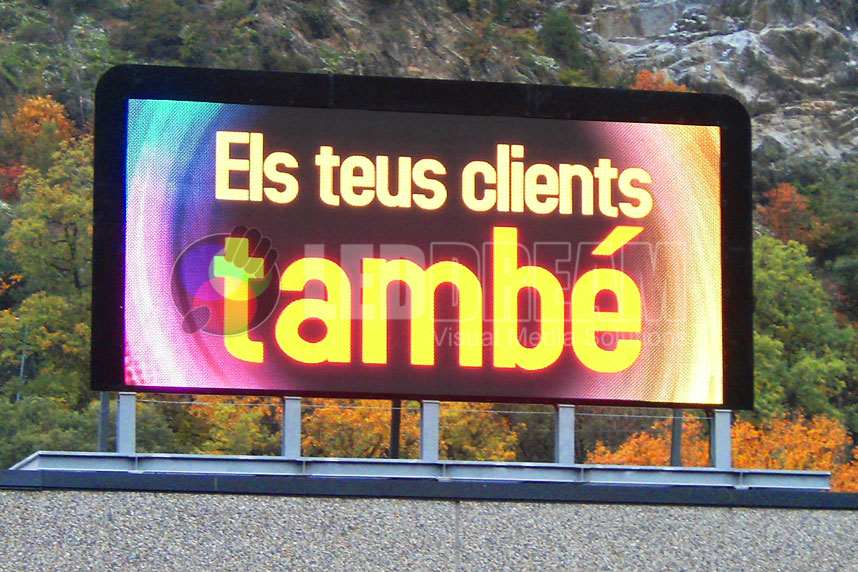 LED screen for advertising, Sant Julià de Loira (Andorra)