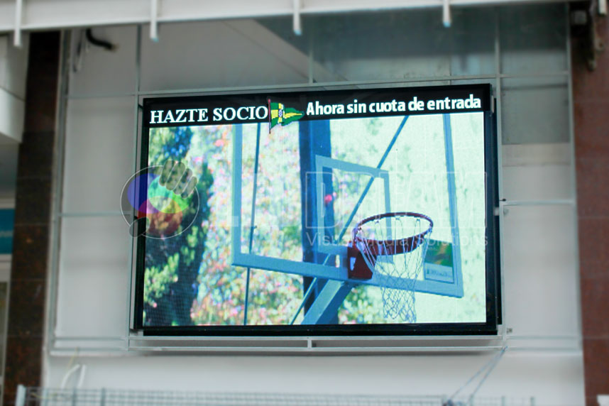 LED screen for advertising and self-promotion. 7.5mm of outer perimeter and dimension 3 x 2m, A Coruña (Galicia)